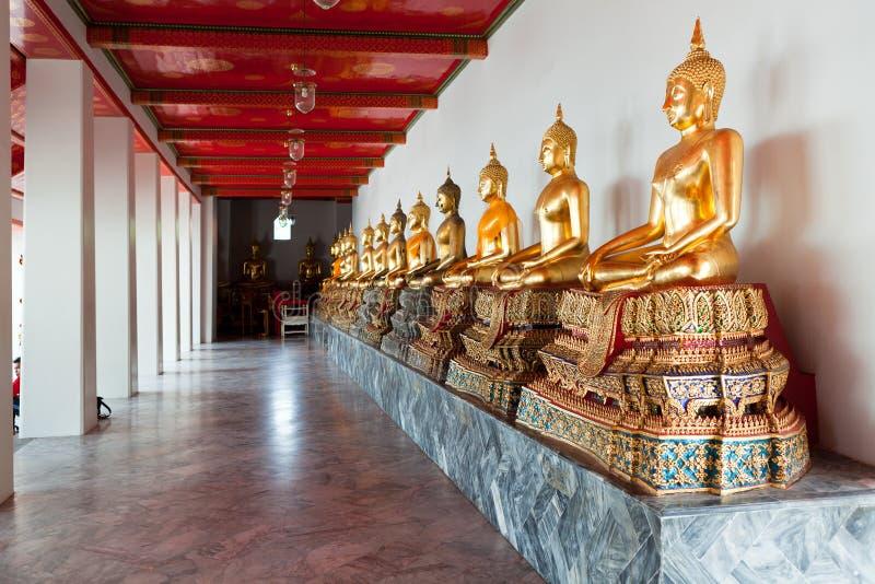 Buddhas. Wat Pho, Bangkok, Thailand stockfotos