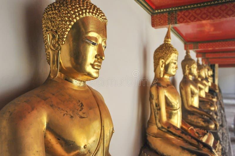 Buddhas in Wat Pho Temple, Bangkok, Thailand stockbilder