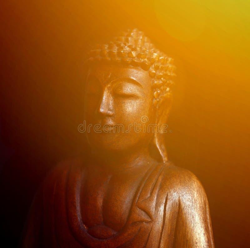 Buddhast?ende mot svart bakgrund vektor illustrationer