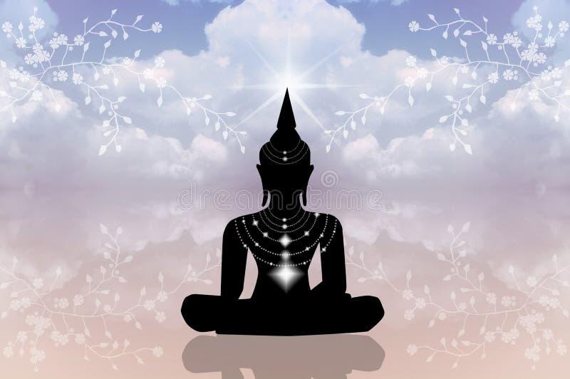 Buddhastaty stock illustrationer