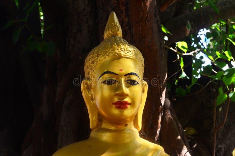 Buddhastaty i Phnom Penh Cambodja arkivbild