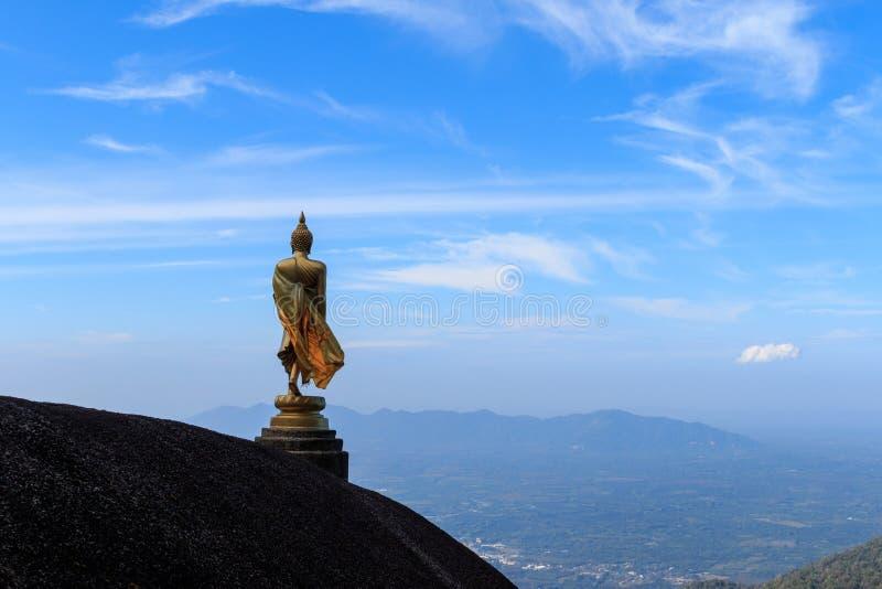 Buddhastaty på kullen arkivbilder