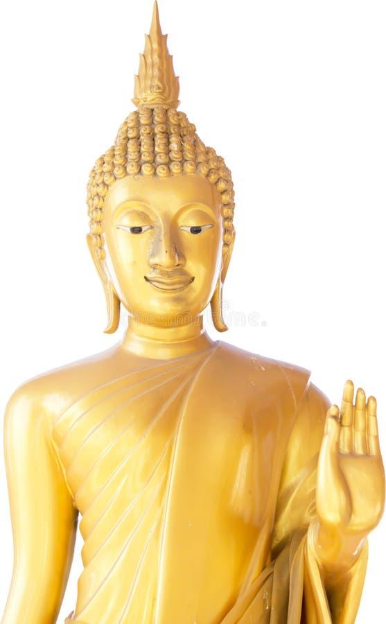 Buddhastatyer som isoleras på templet offentliga Thailand royaltyfri foto