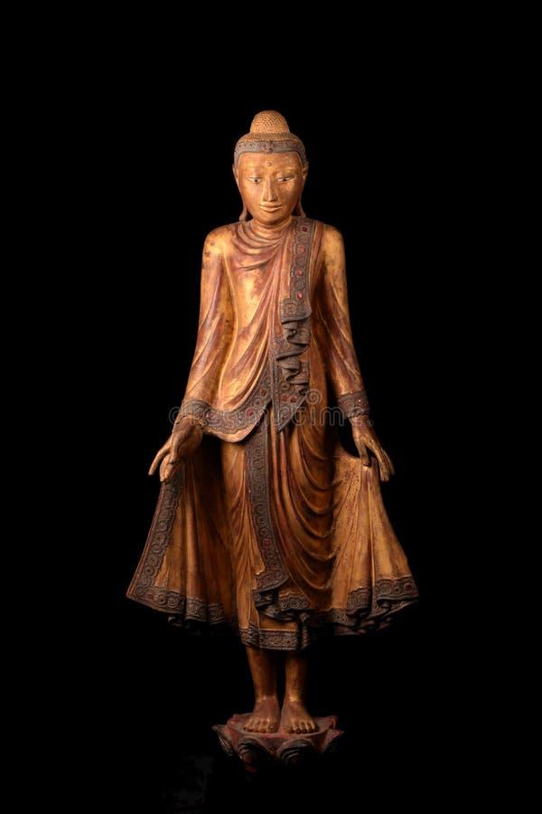 Buddhastatystandind arkivfoton