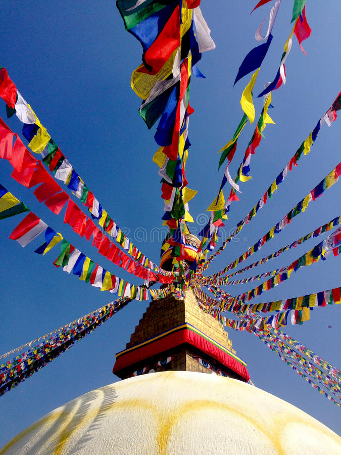 Buddhastupa Katmandu Nepal royaltyfria bilder