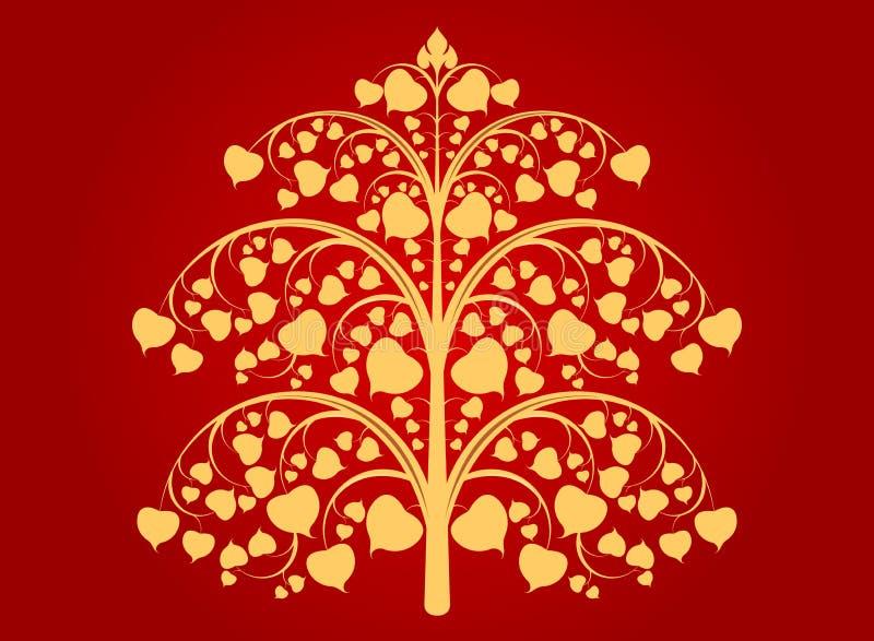 Buddhaträd royaltyfri illustrationer