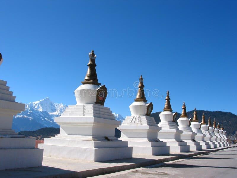 Buddhism Chorten de Tibet fotos de stock royalty free