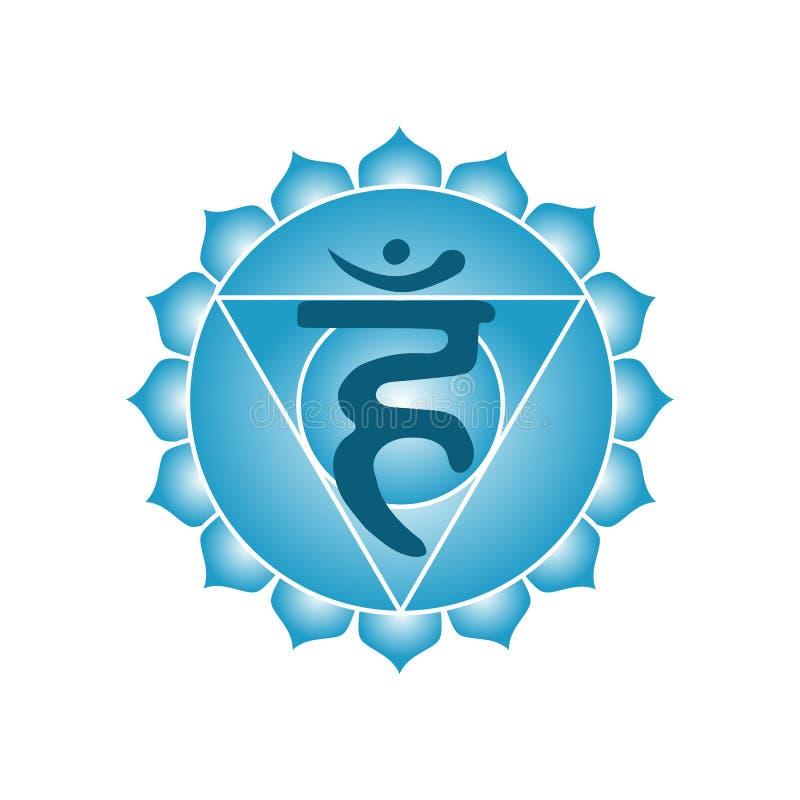 Buddhism indio de la yoga esotérica del símbolo del icono del chakra de Vishuddha hindú libre illustration