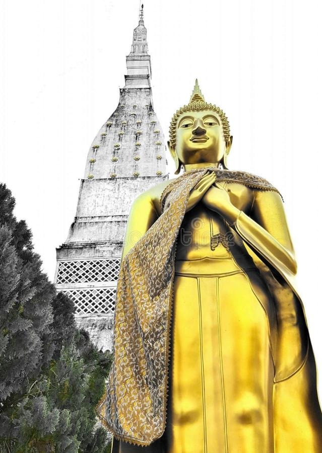 Prathat Tha u tain royalty free stock images
