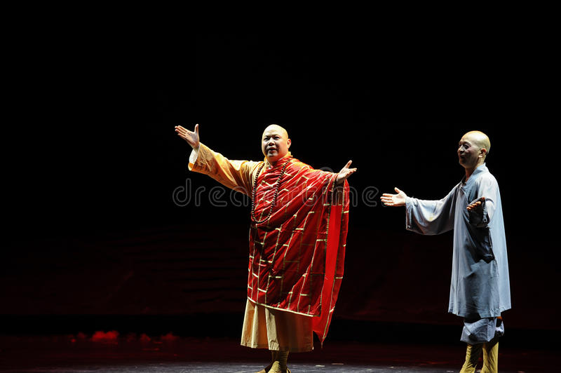 Buddhism posture- Jiangxi opera a steelyard. Jiangxi opera a steelyard is adapted from a true story: the last century fortys, the protagonists father runs an oil stock photos