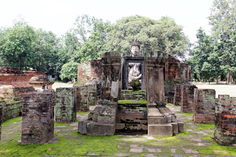 The Old Temple or Wat at Sukhothai Thailand. Buddhism religion peace peaceful antique background landscape stone travel stock photography