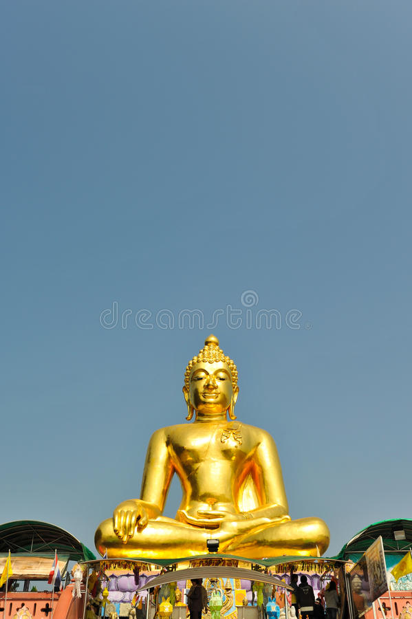 Buddhism Statue at Golden Triangle, Chiangsan, Chiangmai, Thailand royalty free stock photography