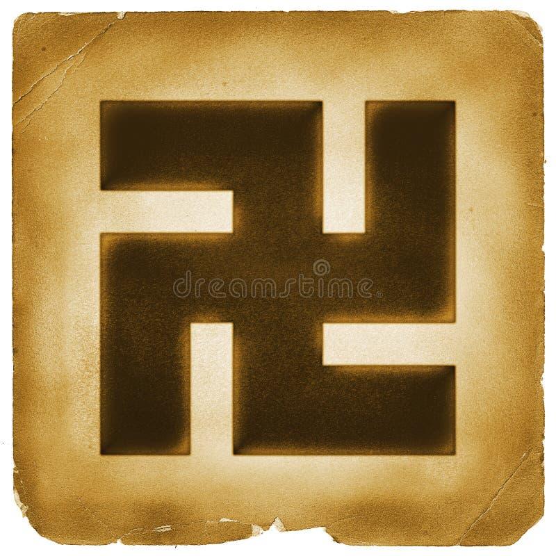 Buddhism Swastika Buddha Sign Old Paper Stock Illustration