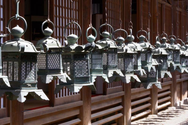 Buddhism Temple Lanterns stock photography