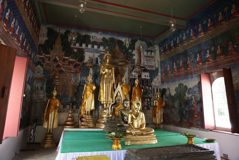 Temple in Uthai Thani, Thailand royalty free stock photos