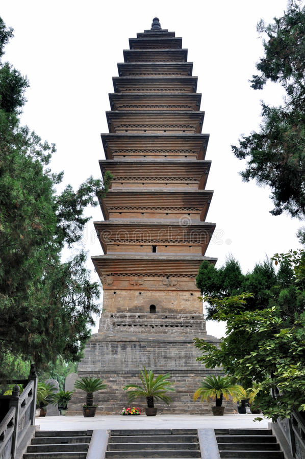 Download Buddhism Tower In Chinese Old Temple Stock Photo - Image: 26614770