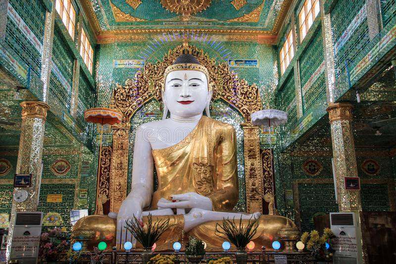 Bhudda at the soon u ponya shin pagoda, Mandalay region, Mandalay, Myanmar. Buddhism is the world`s fourth-largest religionwith over 520 million followers, or royalty free stock image
