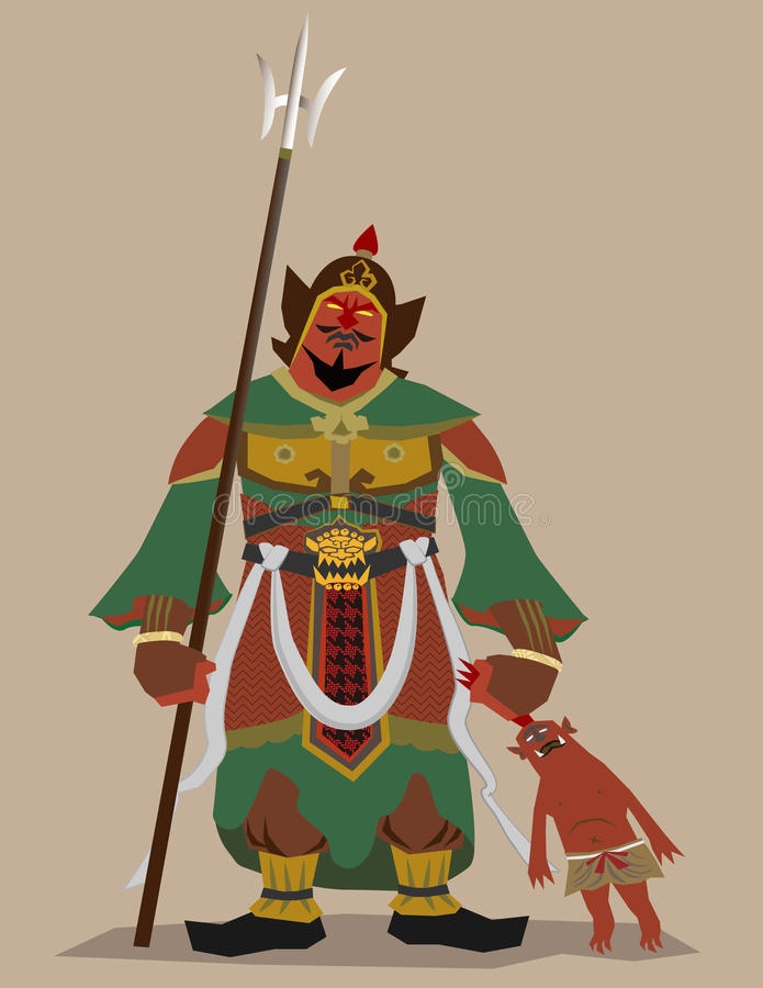 buddhismgudförmyndare stock illustrationer
