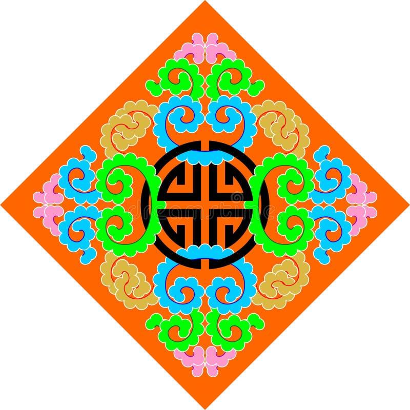 buddhismmodell royaltyfri illustrationer