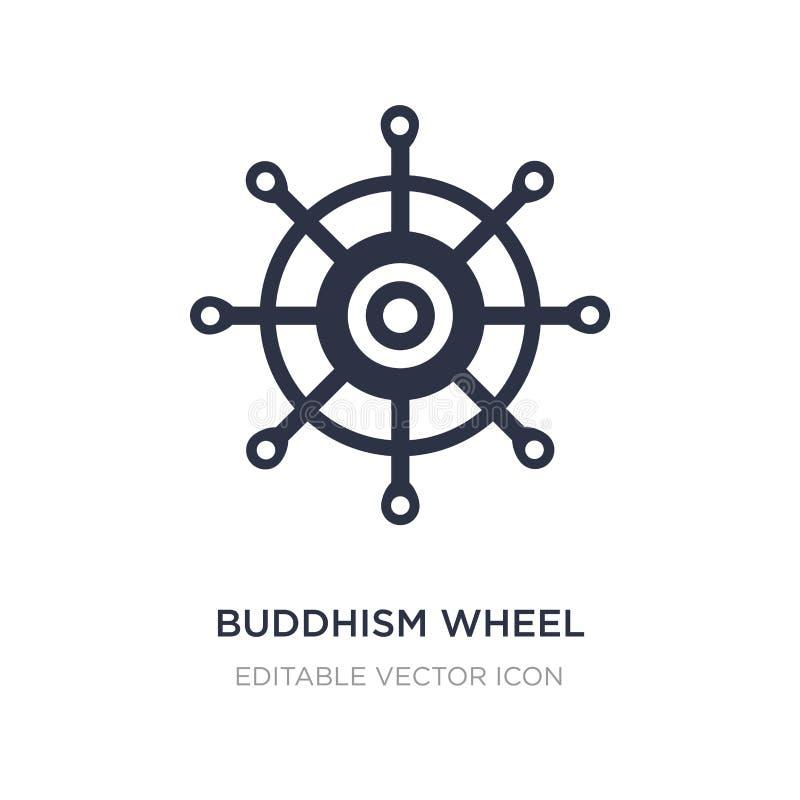 Buddhismusradikone auf weißem Hintergrund Einfache Elementillustration vom Nahrungsmittelkonzept stock abbildung