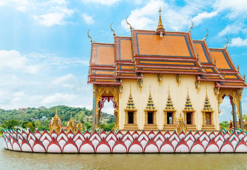 Buddhismustempel auf Samui-Insel, Thailand stockbilder