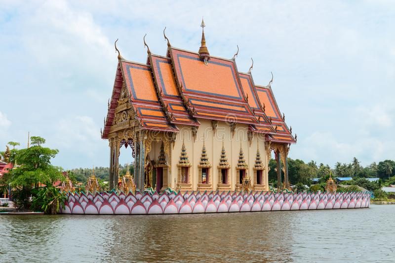 Buddhismustempel auf Samui-Insel, Thailand stockbild
