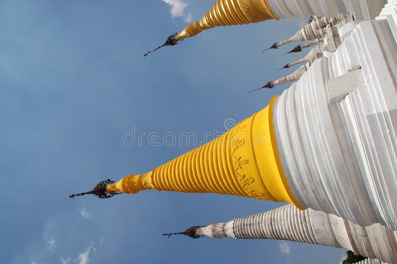 Buddhist Architecture in Burma stock photography