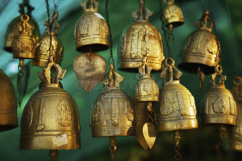 Buddhist bells stock image