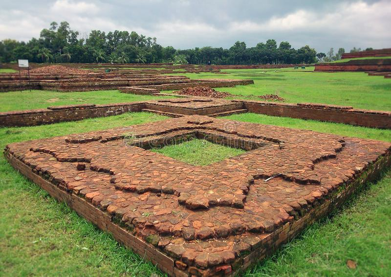Buddhist Bihar at Bangladesh world heritage. Situated at Bangladesh which is considered as world heritage site by UNESCO stock photos