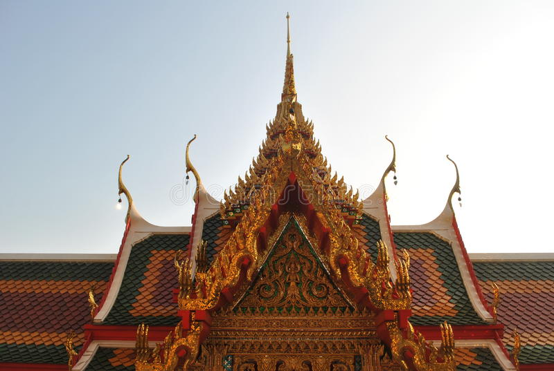 Buddhist building wat buakwan nontaburi thailand stock photos