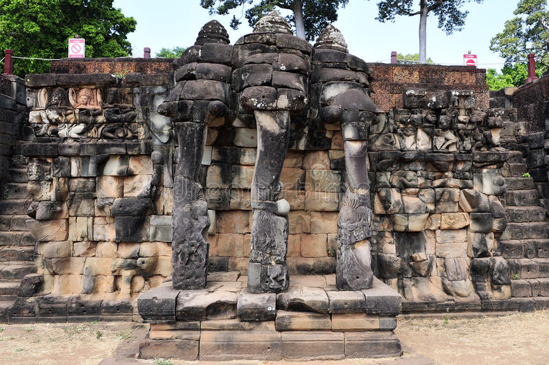 Buddhist carving. Angkor wat seam reap cambodia royalty free stock photography