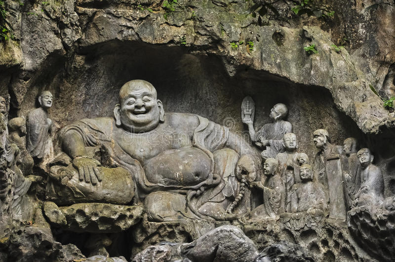 Download Buddhist Carvings In Feilai Feng Caves Stock Photo - Image: 26996094