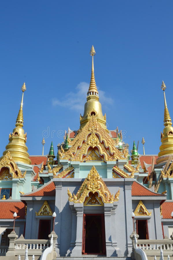 Buddhist church. On sunny day stock photography