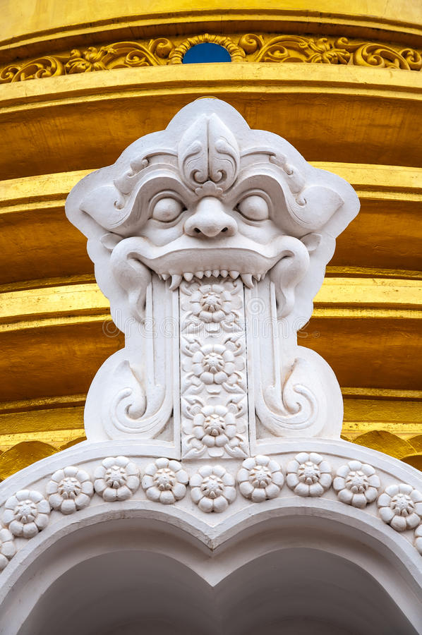 Buddhist dagoba close up in Golden Temple. Buddhist dagoba (stupa) close up in Golden Temple. Dambulla, Sri Lanka royalty free stock photos