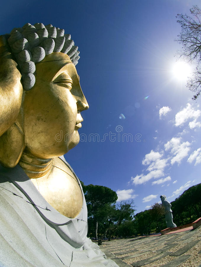 Download Buddhist Garden - Statue stock photo. Image of golden - 15168696