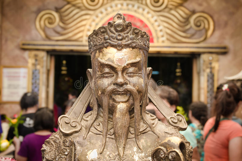 Buddhist god statue at the Wat Nong Hoi Temple, Thailand royalty free stock image