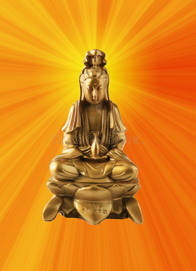 Buddhist Goddess royalty free stock photography