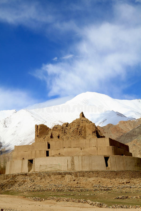 Buddhist Gompa Remains Stock Images