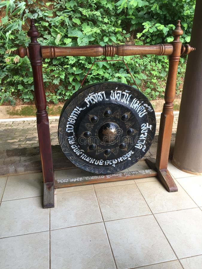 Buddhist gong seen during Golden Triangle Tour in Chiangmai stock photo