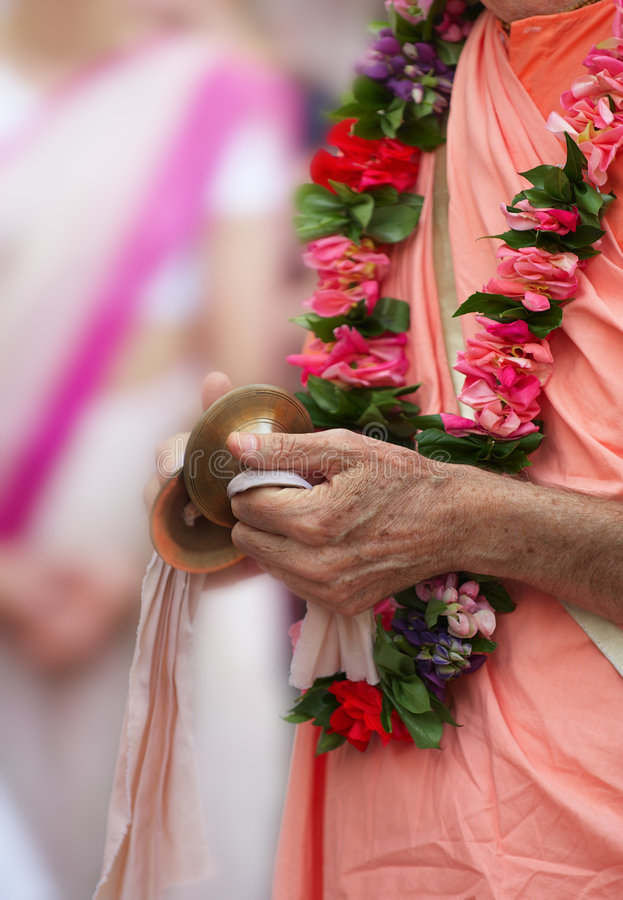 Download Buddhist hands with bells stock photo. Image of bells - 5711336