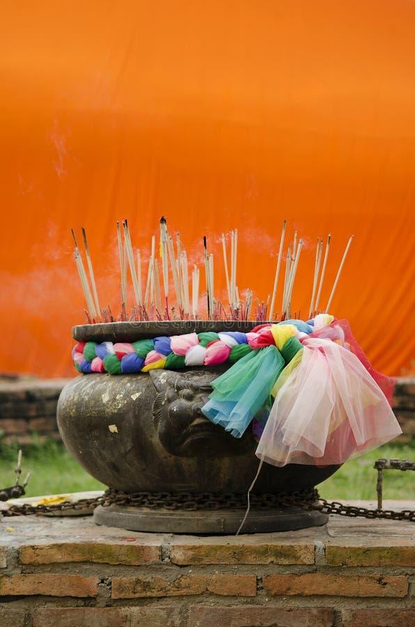 buddhist kadzidłowy świątynny Thailand zdjęcia royalty free