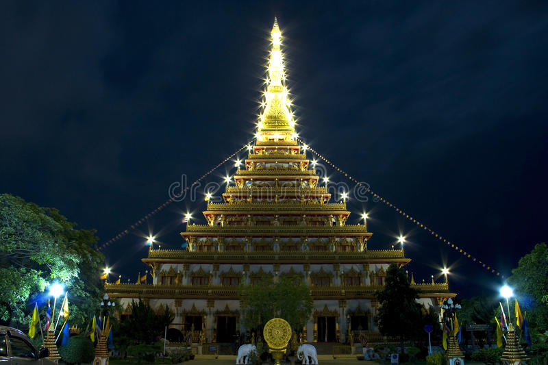 Buddhist in khonkaen Thailand. Beautiful Buddhist in khonkaen Thailand royalty free stock photography