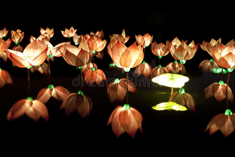 Download Buddhist lotus lantern stock image. Image of belief, electricity - 21225151