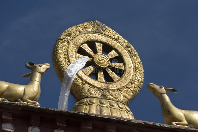 Buddhist Mandela - Drepung Monastery - Lhasa - Tibet Stock Photo