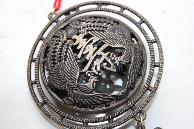 Buddhist medallion Charm stock image