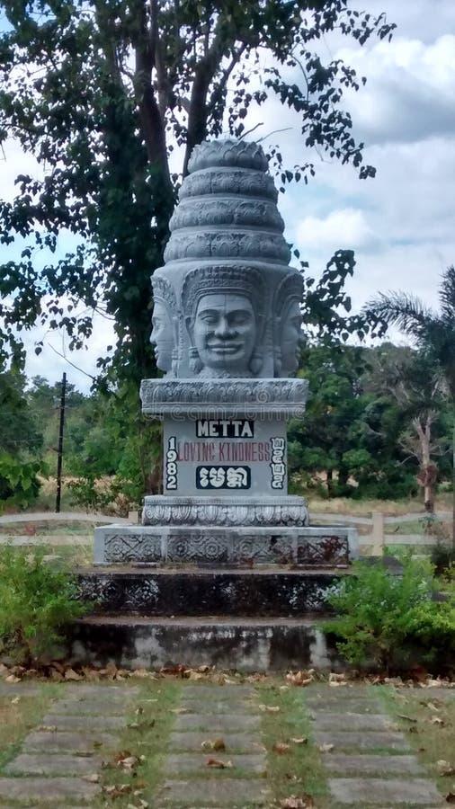 Buddhist metta monument in Bataan Philipines stock photography