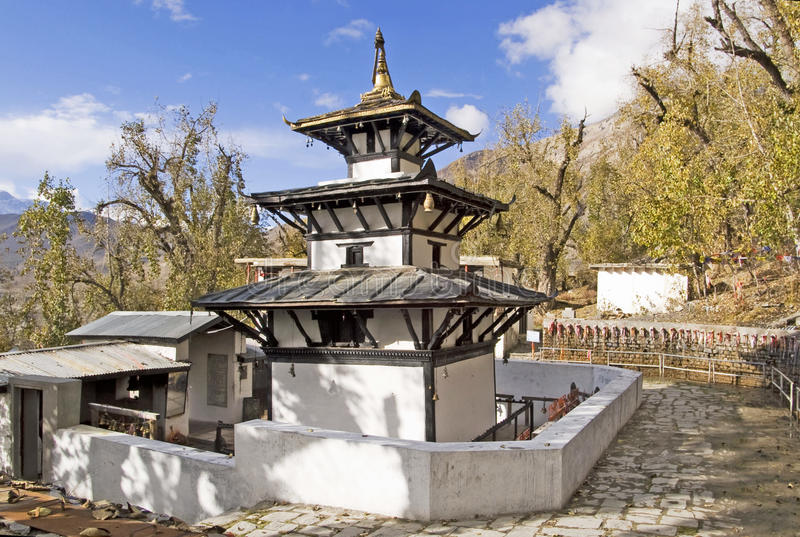 Buddhist monastery, Annapurna, Nepal royalty free stock photography