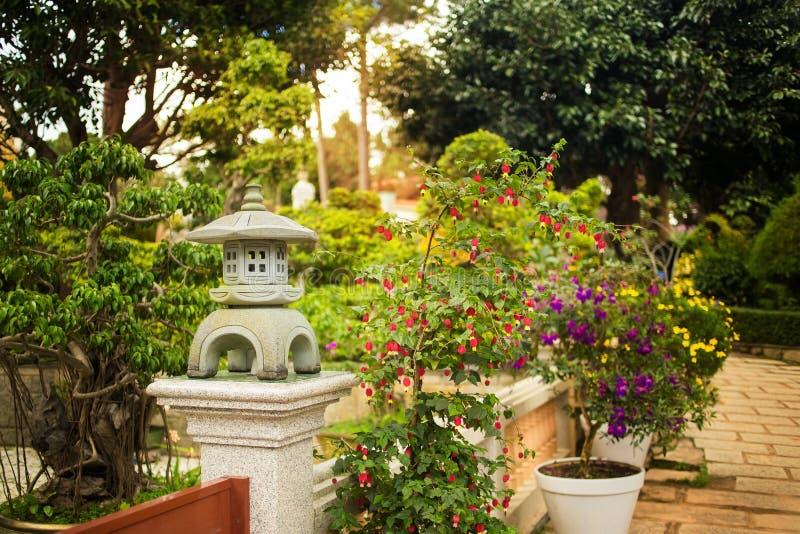 Buddhist monastery Chua Truc Lam in Da Lat, Vietnam royalty free stock image