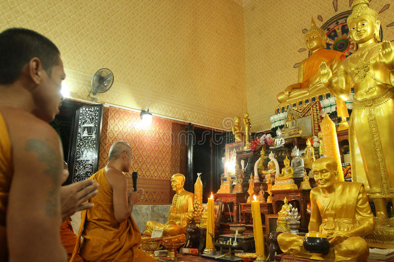 Buddhist monastery Wat Klong Prao in Thailand royalty free stock images