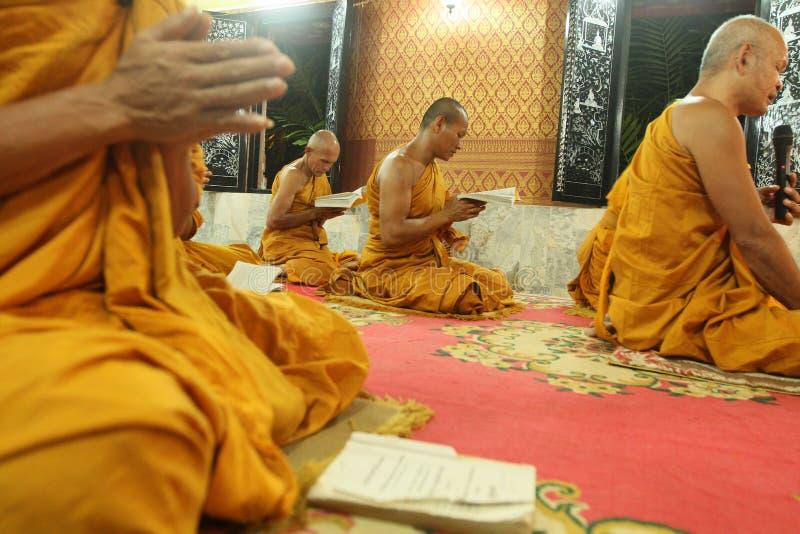 Buddhist monastery Wat Klong Prao in Thailand stock photo